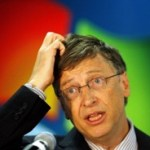Bill Gates scratching head... hmmm I'm confused?!