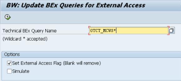 Sample query wildcard input - 0TCT_MCWS*
