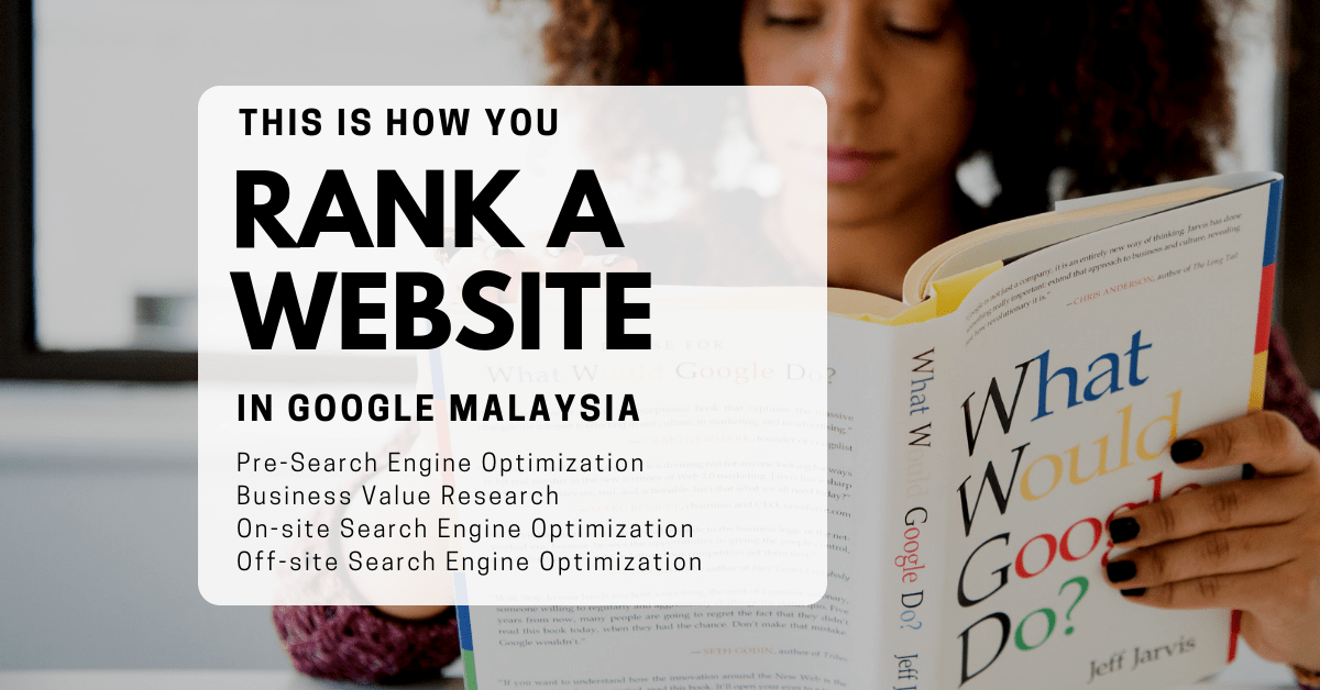 How to rank a website in Google Malaysia