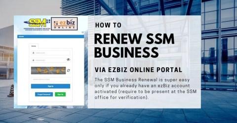 Renew SSM Business via ezBiz portal online
