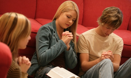 Teenagers Praying