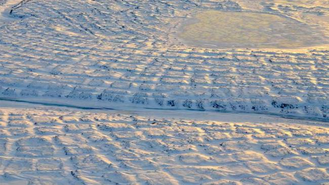 Tundra soil contains locked in carbon. A thaw releases it.