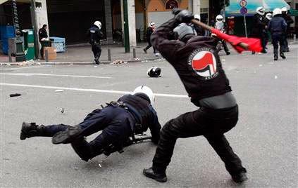 fake antifa picture