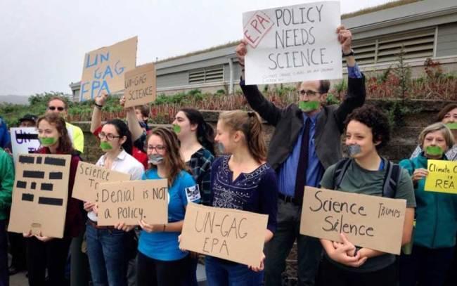 EPA censorship protest