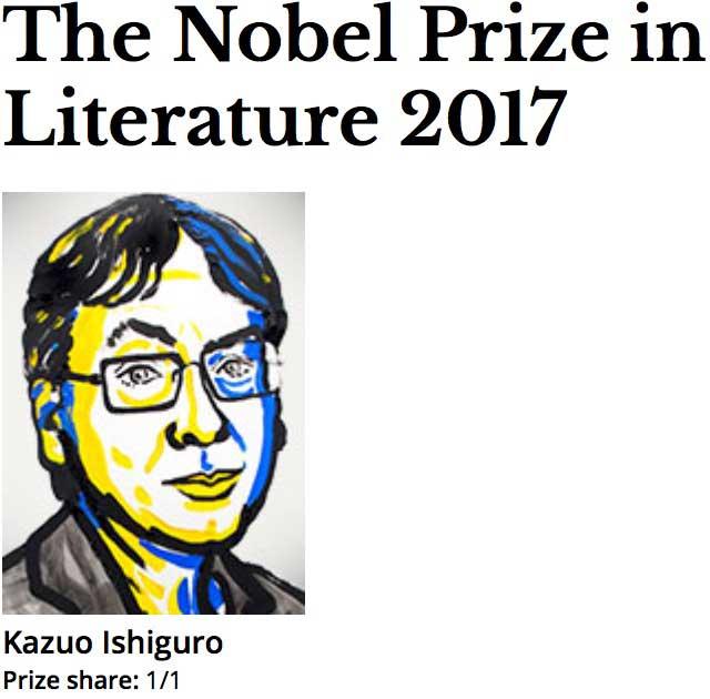 2017 Nobel Prize Literature