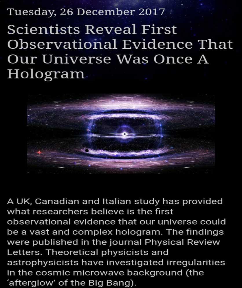 hologram universe