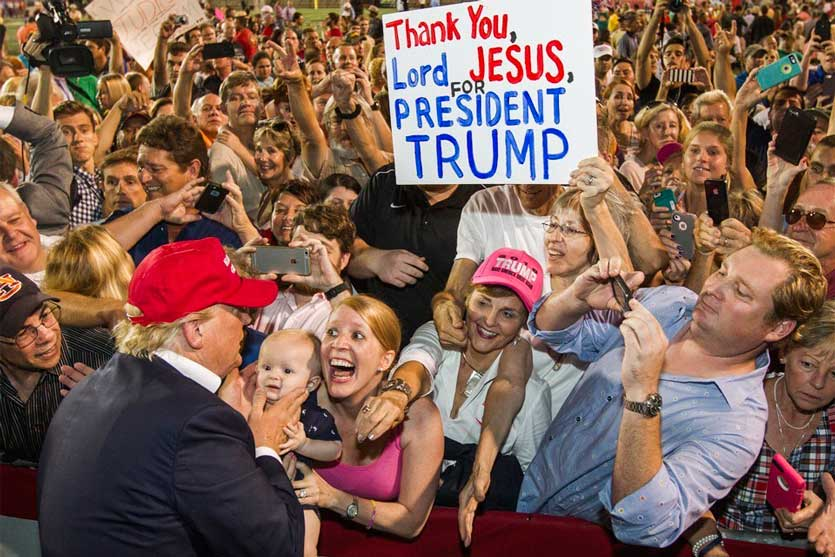 weird religious news trump support