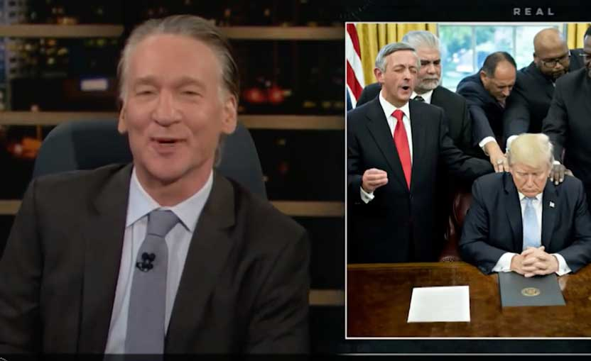 Bill Maher: the Moral bankruptcy of Evangelicals