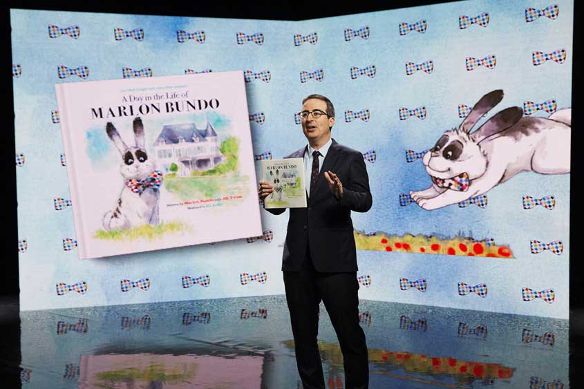 John Oliver and #MarlonBundo goes viral