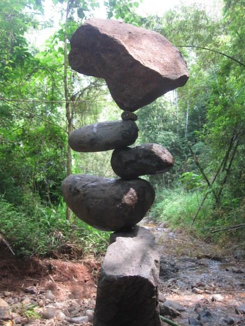 The rock art variation of the #BroomstickChallenge