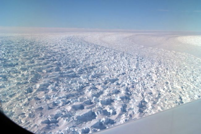 Researchers from UCI and NASA's Jet Propulsion Laboratory are concerned that the unique topography beneath East Antarctic Denman Glacier could make it even more susceptible to climate-driven collapse. Picture Courtesy of NASA