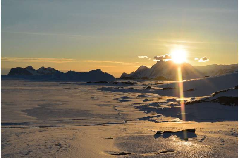 Today, Antarctic winds usually blow from the continent out to the sea. Credit: Svein Østerhus