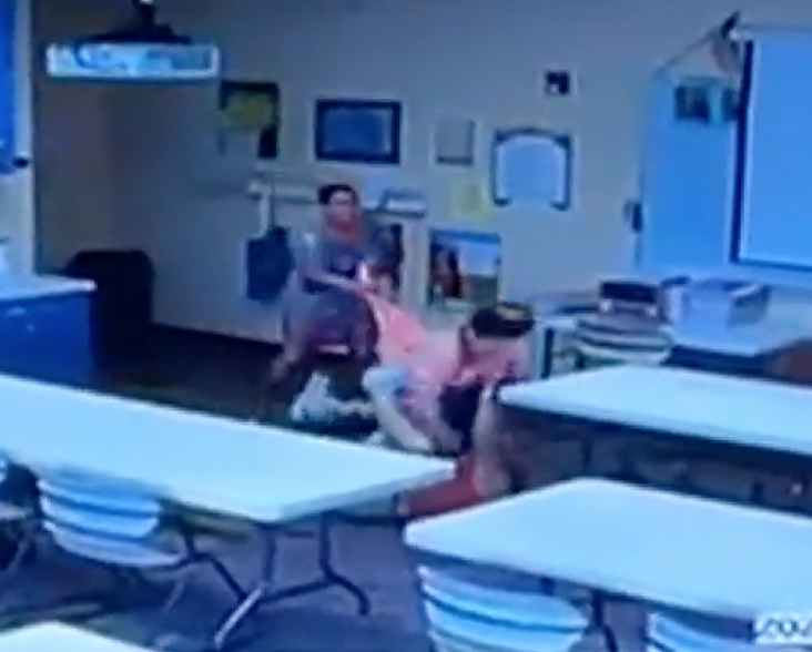 teacher attacked - violence