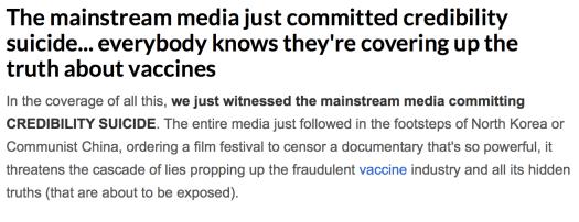 Tribeca vaccines conspiracy