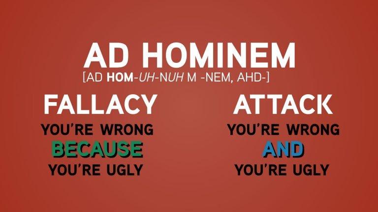 Resultat d'imatges de ad hominem