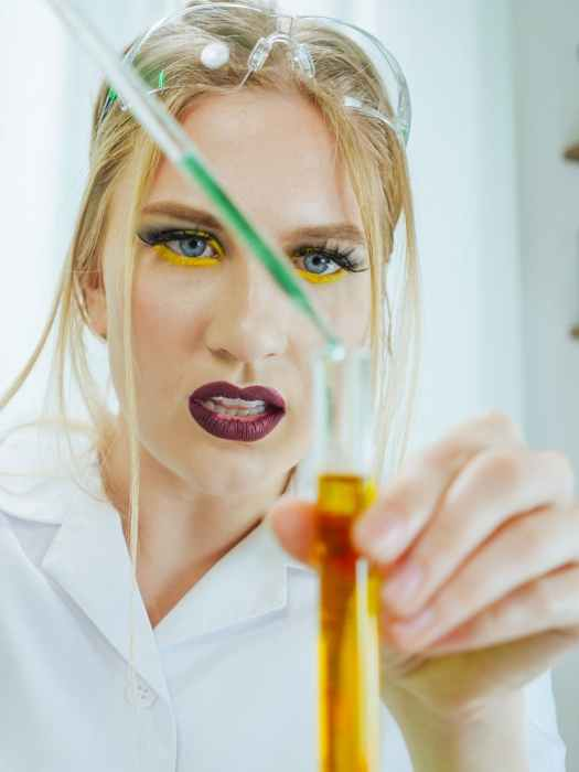 a woman doing an experiment germ theory