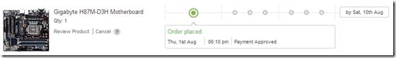 Flipkart Order Status