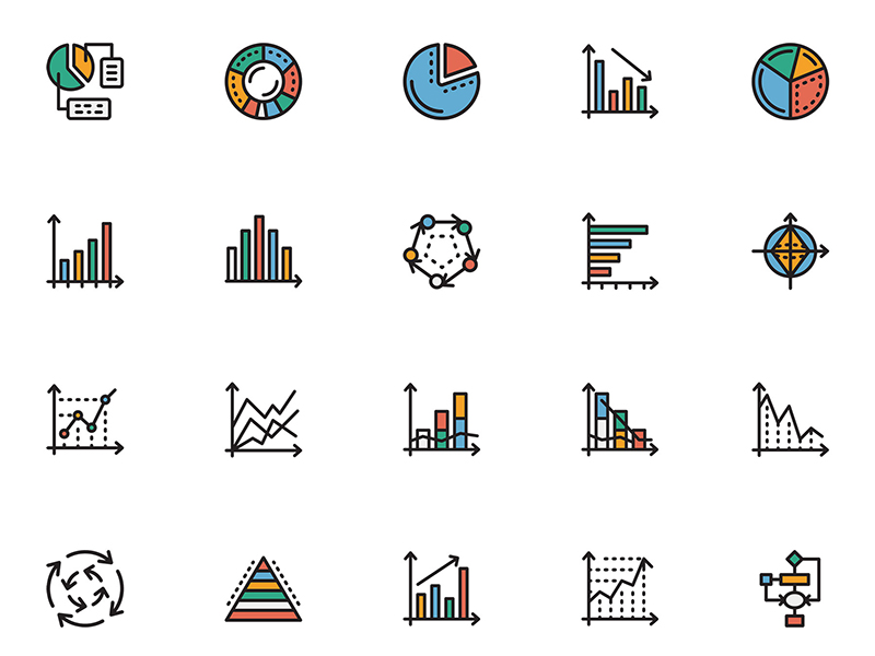Chart Icons Sketch Freebie Download Free Resource For Sketch Sketch App Sources