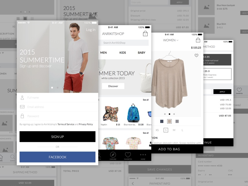 Ecommerce App   Wireframe and UI Kit Sketch freebie   Download free     Ecommerce App   Wireframe and UI Kit