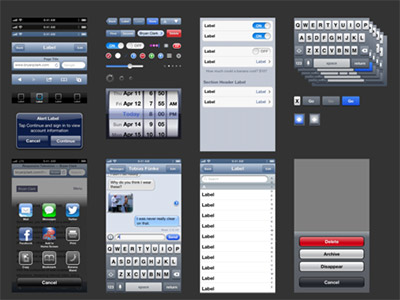 Apple IPhone An IOS 6 UIKit Template Sketch Freebie