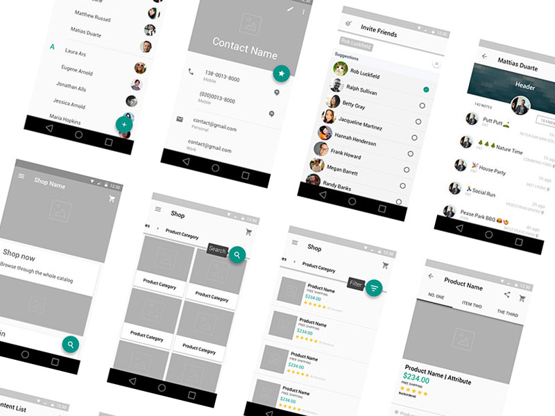 How To Design Wireframe   WIRE Center     material design wireframe kit v2 sketch freebie download free rh  sketchappsources com how to design wireframes for website how to design  wireframes in visio