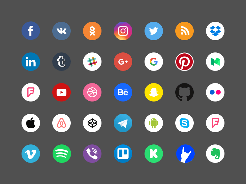 Social Icons Sketch Freebie Download Free Resource For