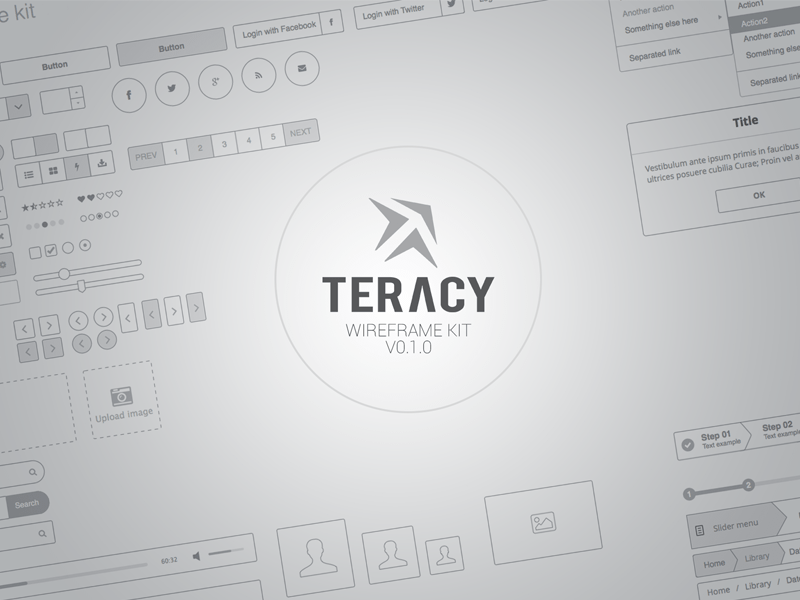 Teracy   Wireframe UI Kit for Sketch Sketch freebie   Download free     Teracy   Wireframe UI Kit