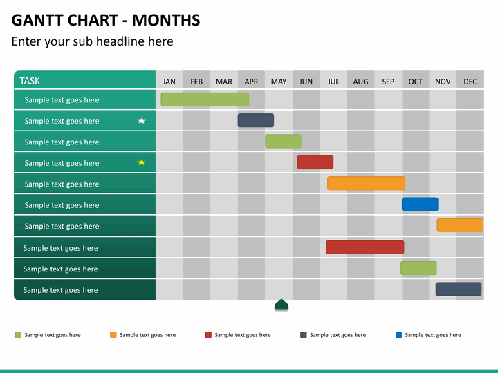 Gantt Chart PowerPoint Template SketchBubble