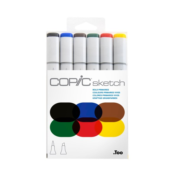 Copic Sketch Markers Bold Primaries Set