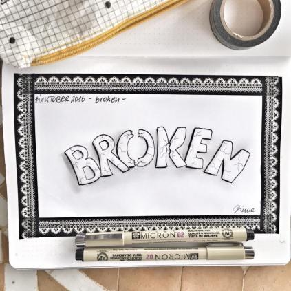 Inktober - broken