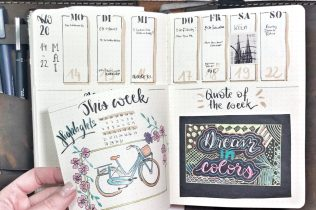 Bullet Journal Dutch Door