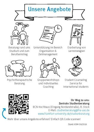 Flyer Studienberatung Frankfurt University of Applied Sciences