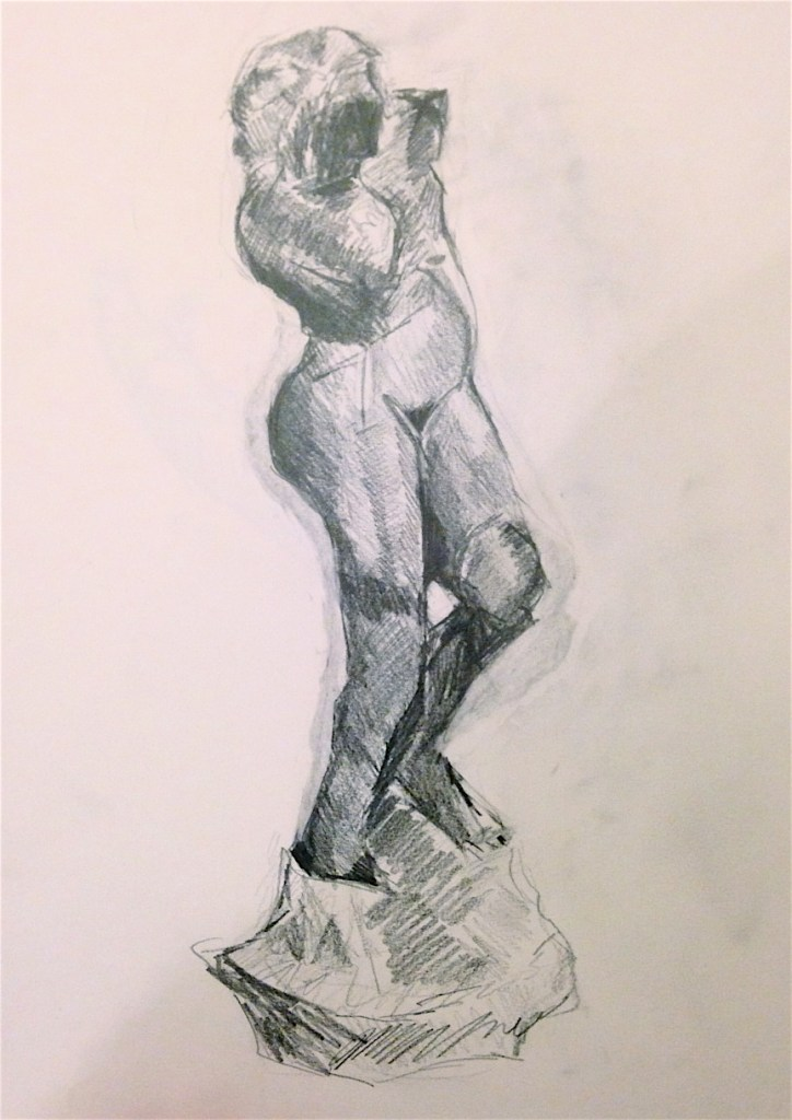 Art student work example - figure drawing