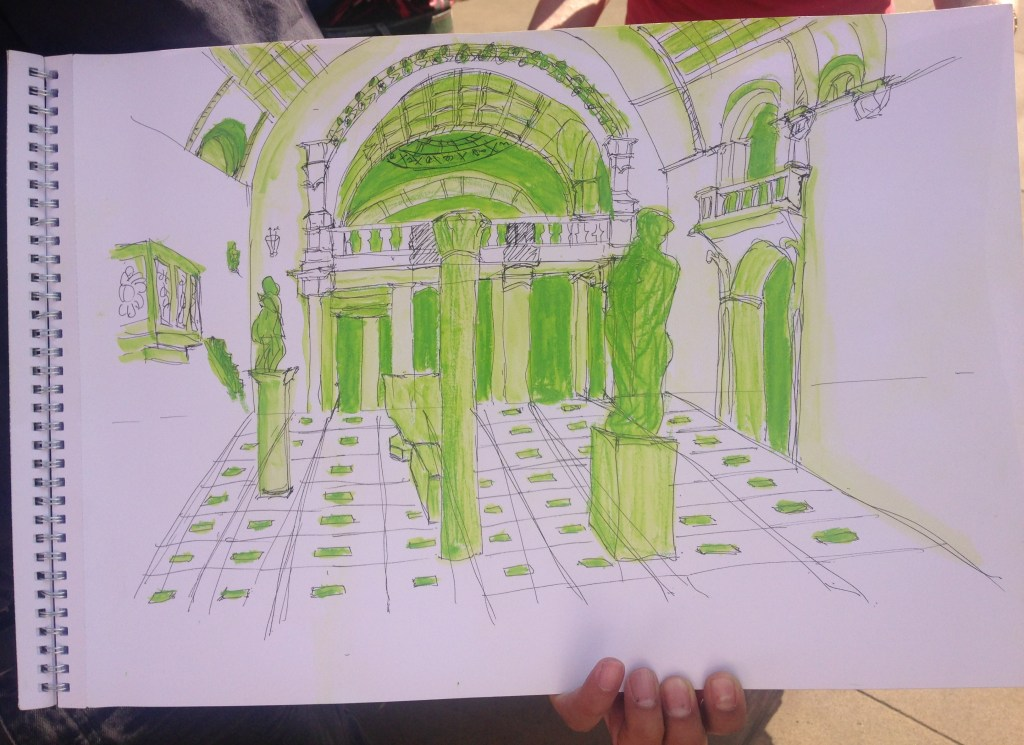 Perspective, Buildings and architecture drawing course at the V & A london