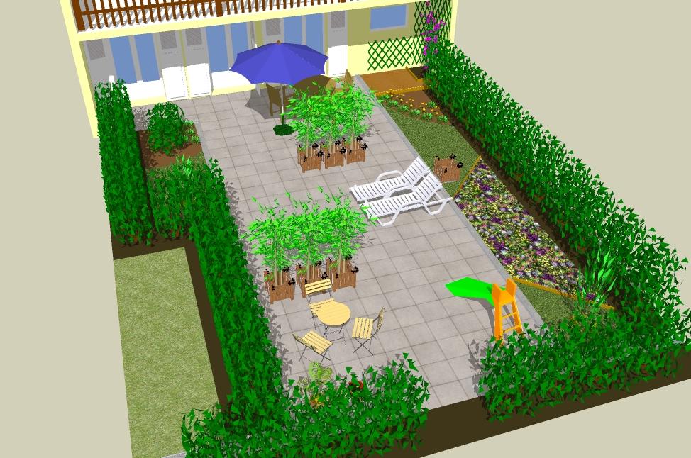 Sketchup Garden Conception 3d De Jardin Avec Le Logiciel Gratuit Sketchup