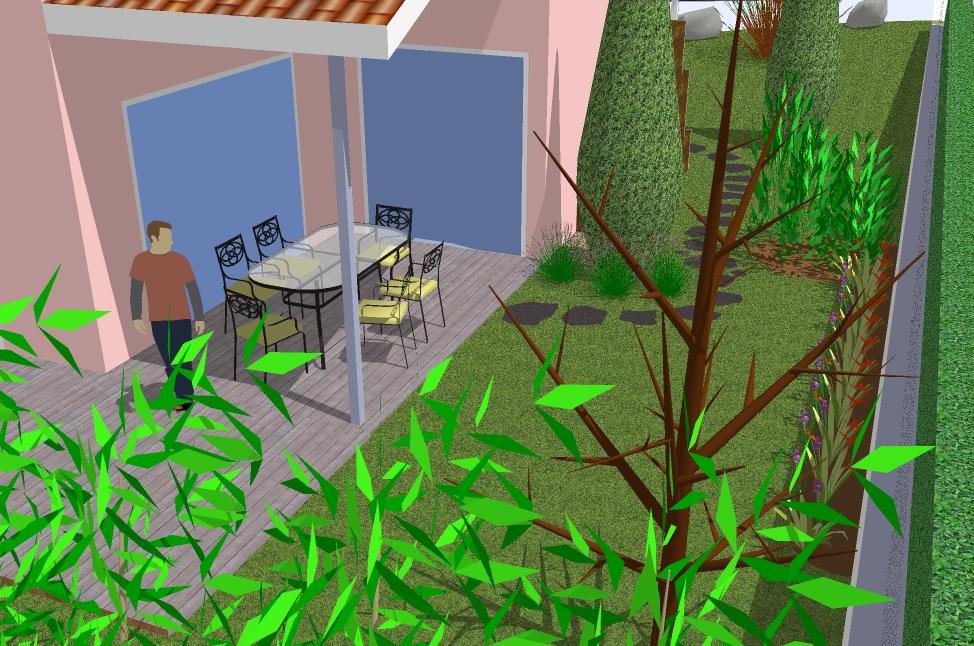 Modèle de jardin en 3D avec SketchUp