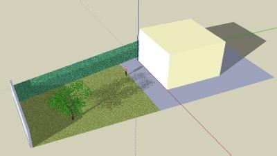 Un modèle de jardin à son emplacement réel