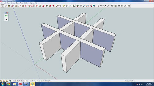 3D Create glue-less interlocking laser cut parts with sketchup slicemodelerl