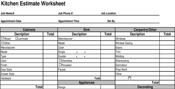Interior design estimate excel sheet india for Interior design fee calculator