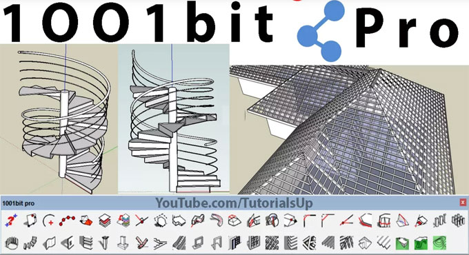 Learn the application of 1001 bit Plugin in SketchUp