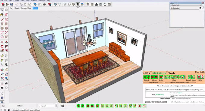 2DXY SlickMoves for SketchUp