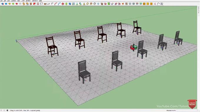 Demonstration of Axes Tools sketchup plugin
