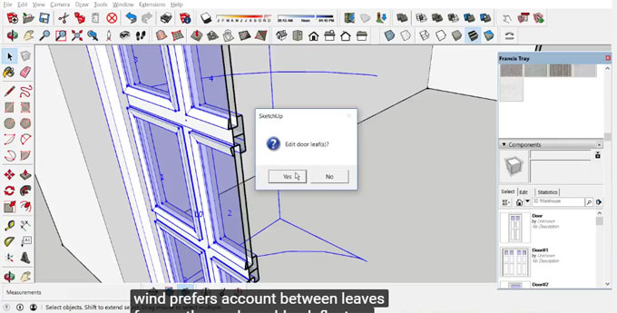 WinDoor+ for sketchup for creating & editing doors