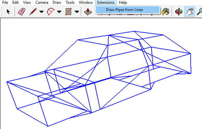 Draw pipes from lines – A new sketchup extension is just launched