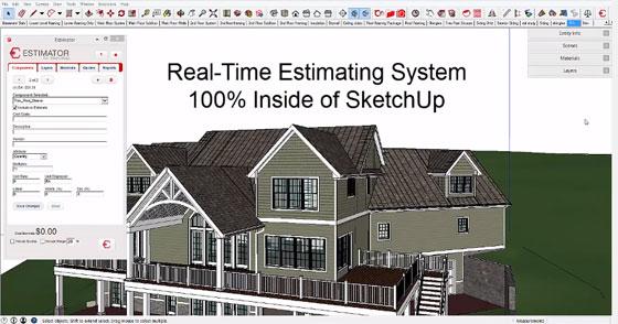 estimator for sketchup