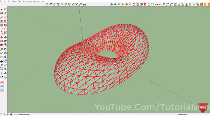 Demonstration of extrude tools in sketchup