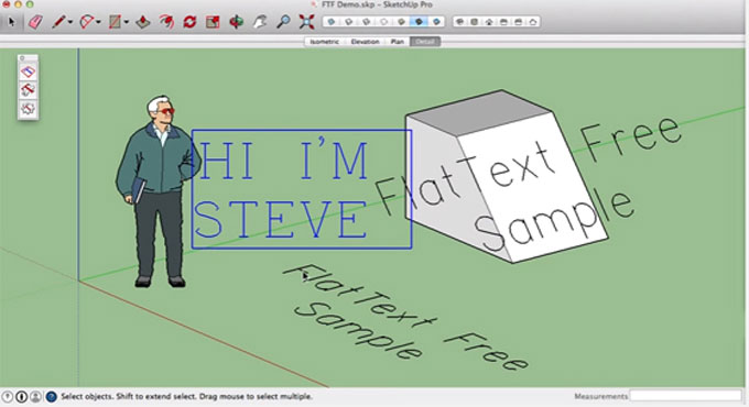 FlatText – The newest sketchup plugin