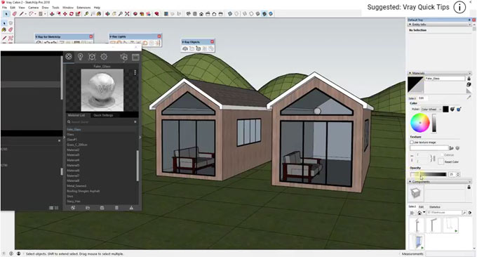 How to resolve v-ray glass transparency issue in v-ray 3.6 for sketchup