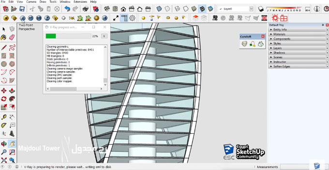 How to use Grow and Curviloft sketchup extension to design the