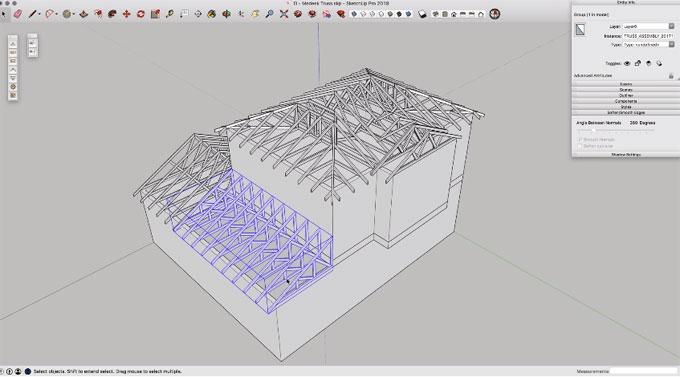 Meedek Truss Plugin – Online demonstration to create trusses into your sketchup model